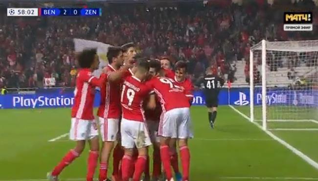 اهداف مباراة بنفيكا وزينيت (3-0) دوري ابطال اوروبا