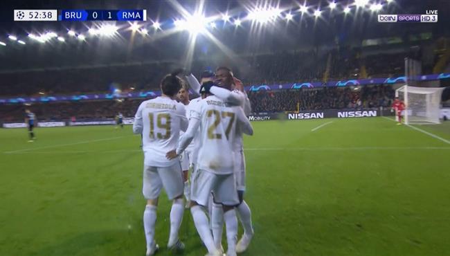 هدف ريال مدريد الاول فى مرمى كلوب بروج (1-0) دوري ابطال اوروبا