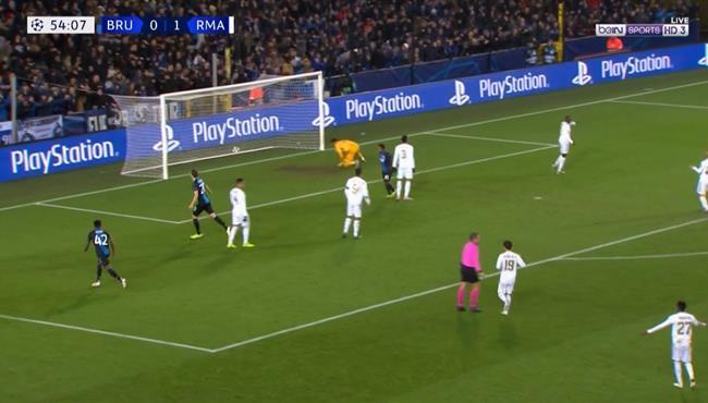 هدف تعادل كلوب بروج الرائع مع ريال مدريد (1-1) دوري ابطال اوروبا