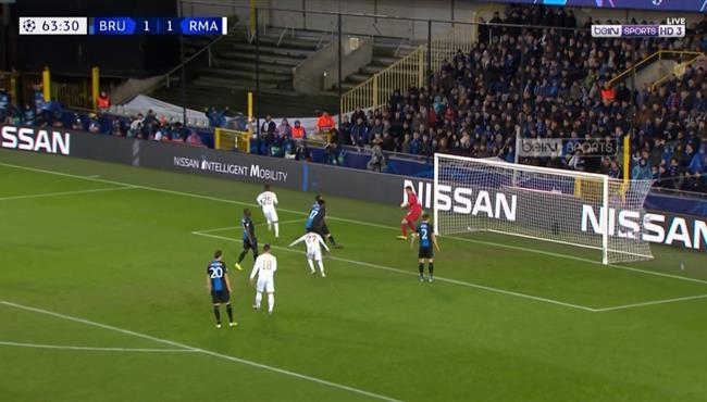 هدف ريال مدريد الثانى فى مرمى كلوب بروج (2-1) دوري ابطال اوروبا