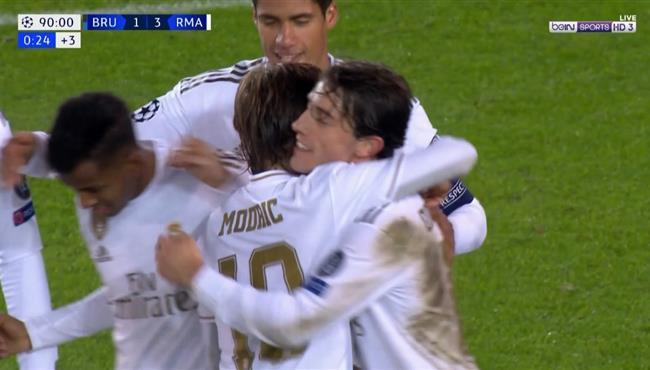 هدف ريال مدريد الثالث فى مرمى كلوب بروج (3-1) دوري ابطال اوروبا