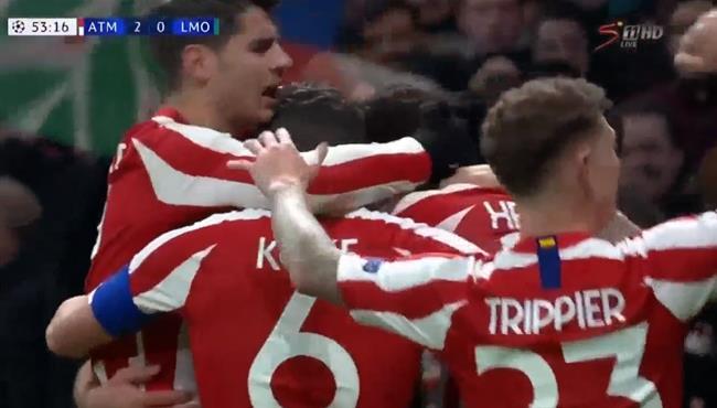 اهداف مباراة اتلتيكو مدريد ولوكوموتيف موسكو (2-0) دوري ابطال اوروبا