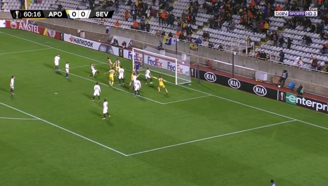 هدف فوز أبويل نيقوسيا على اشبيلية (1-0) الدوري الاوروبي