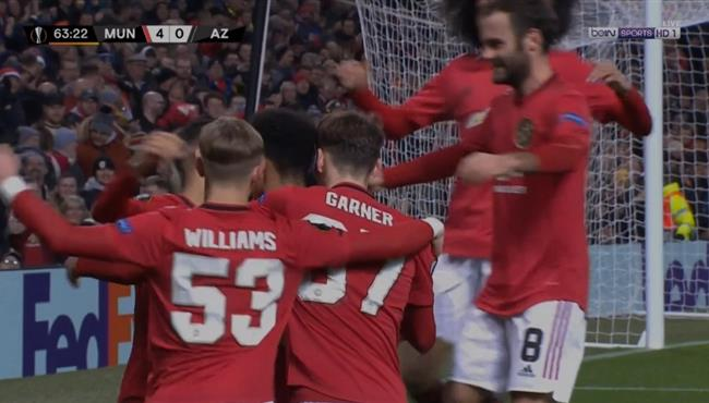 في 11 دقيقة فقط .. مانشستر يونايتد يسجل 4 اهداف امام الكمار بالدوري الاوروبي