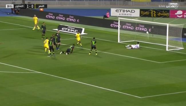 هدف تعادل النصر مع التعاون (1-1) الدوري السعودي