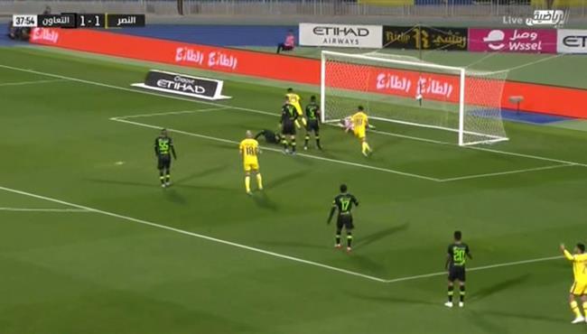 هدف النصر الثانى فى مرمى التعاون (2-1) الدوري السعودي