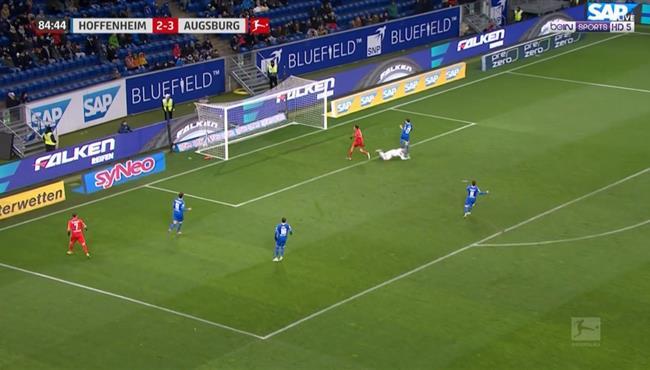 اهداف مباراة أوجسبوج وهوفنهايم (4-2) الدوري الالمانى