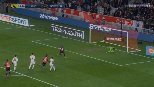 اهداف مباراة ليل ومونبلييه (2-1) الدوري الفرنسي