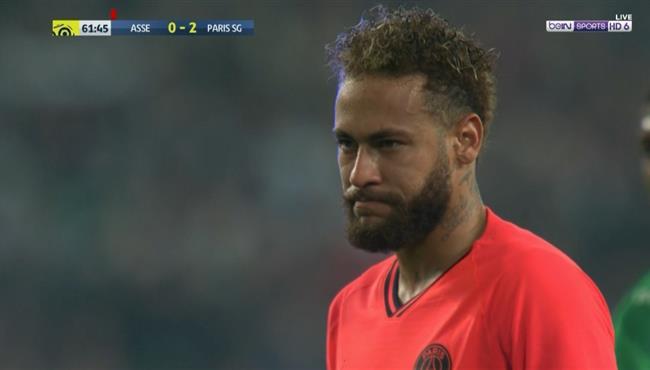 نيمار يهدر ركلة جزاء امام سانت اتيان فى الدوري الفرنسي