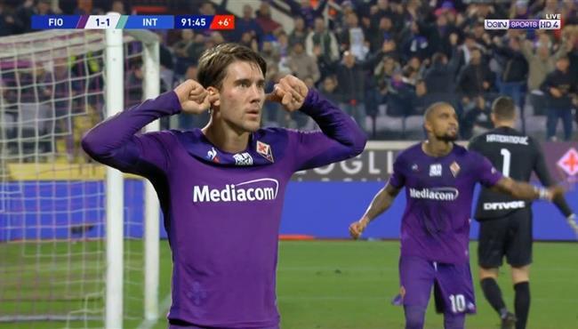 هدف تعادل فيورنتينا القاتل مع انتر ميلان (1-1) الدوري الايطالي