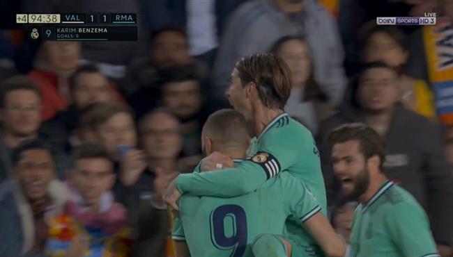 بمشاركة كورتوا.. هدف تعادل ريال مدريد القاتل مع فالنسيا (1-1) كريم بنزيما