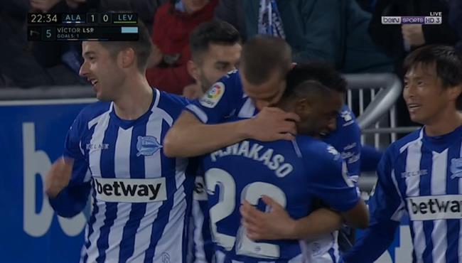 اهداف مباراة ديبورتيفو الافيس وليفانتي (2-0) الدوري الاسباني