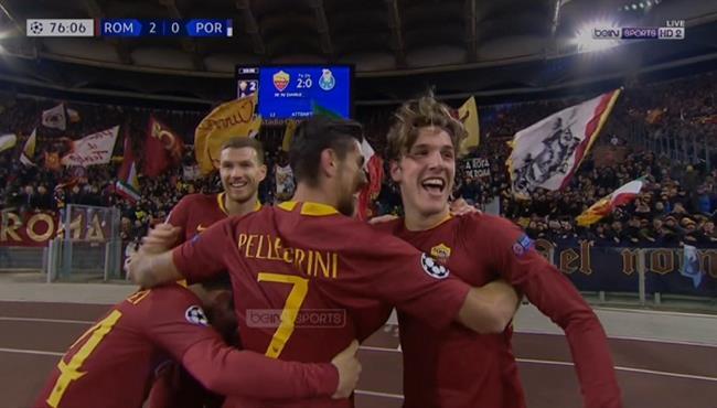 اهداف مباراة روما وبورتو (2-1) تعليق حفيظ دراجي