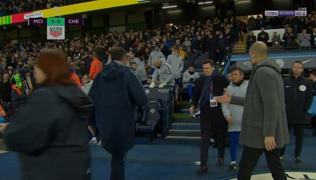 ساري يرفض مصافحة جوارديولا بعد مباراة مانشستر سيتي وتشيلسي