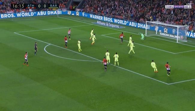 تصدي رائع من تير شتيجن في مباراة برشلونة واتلتيك بلباو