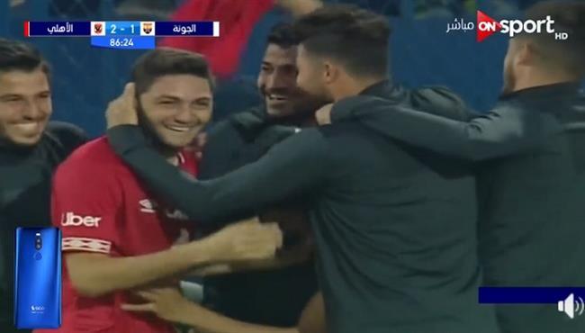 اهداف مباراة الاهلي والجونة اليوم 2 1 الدوري المصري