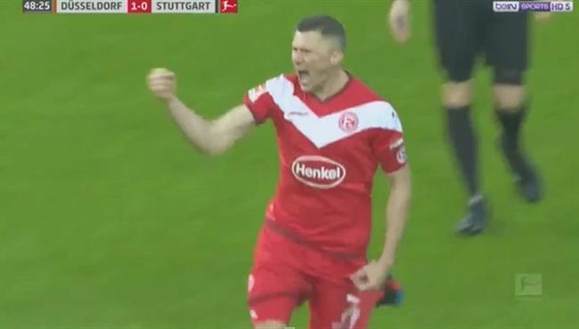 هدف عالمي في مباراة فورتونا دوسلدورف وشتوتجارت