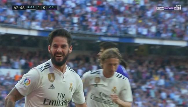 هدف ريال مدريد الاول في مرمي سيلتا فيجو بالدوري الاسباني