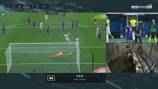هدف ريال مدريد الملغي امام سيلتا فيجو في الدوري الاسباني