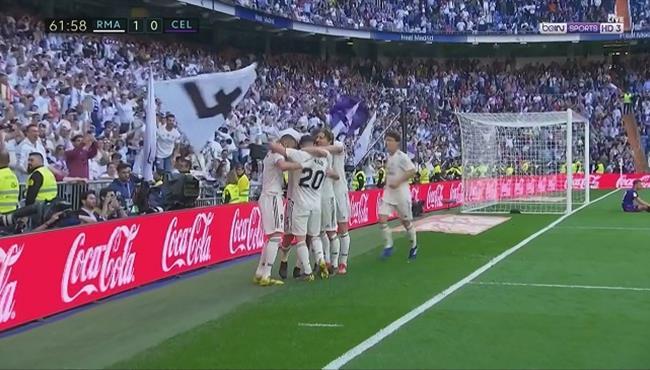 اهداف مباراة ريال مدريد وسيلتا فيجو (2-0) الدوري الاسباني
