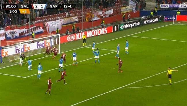 اهداف مباراة نابولي وسالزبورج (1-3) الدورى الاوروبى