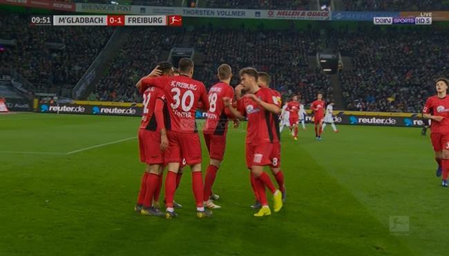 اهداف مباراة فرايبورج وبوروسيا مونشنجلادباخ (1-1) الدوري الالماني