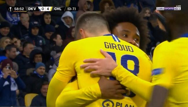 اهداف مباراة تشيلسي ودينامو كييف (5-0) الدوري الاوروبي