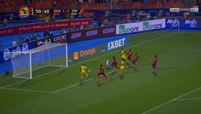 لاعب زيمبابوي يهدر اسهل فرصة في كأس امم افريقيا امام اوغندا