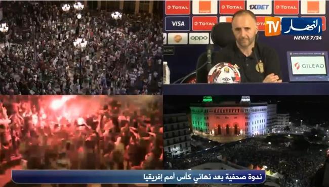 جمال بلماضي: احتاج إلى طبيب عيون لأرى تشجيع المصريين للجزائر