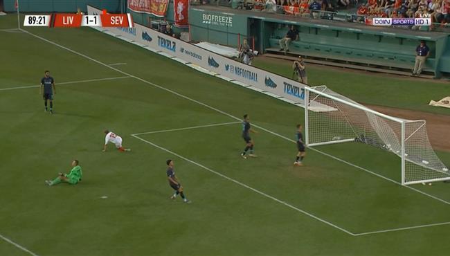 هدف اشبيلية الثاني في مرمي ليفربول (2-1) مباراة ودية