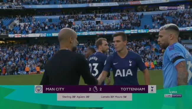 ملخص مباراة مانشستر سيتي وتوتنهام (2-2) الدوري الانجليزي