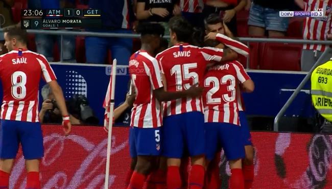 هدف فوز اتليتكو مدريد علي خيتافي بالدوري الاسباني