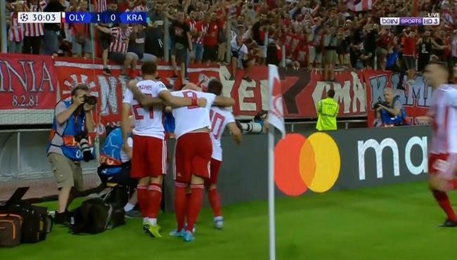 اهداف مباراة اوليمبياكوس وكراسنودار (4-0) دوري ابطال اوروبا