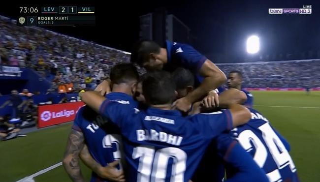 اهداف مباراة فياريال وليفانتي (1-2) الدوري الاسباني