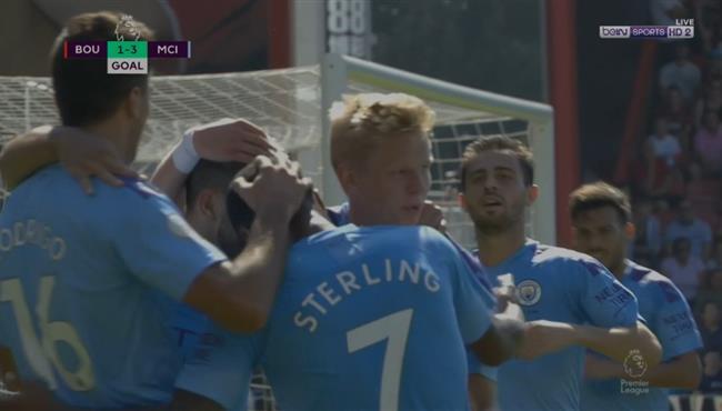 اهداف مباراة مانشستر سيتي وبورنموث (3-1) الدوري الانجليزي