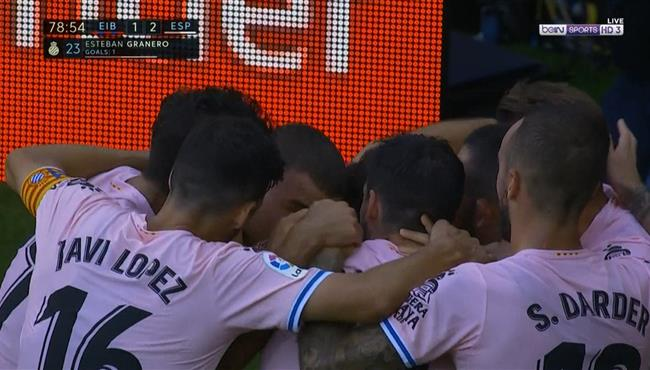 اهداف مباراة اسبانيول وايبار (2-1) الدوري الاسباني
