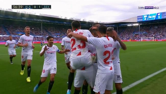 هدف فوز اشبيلية علي ديبورتيفو ألافيس (1-0) الدوري الاسباني