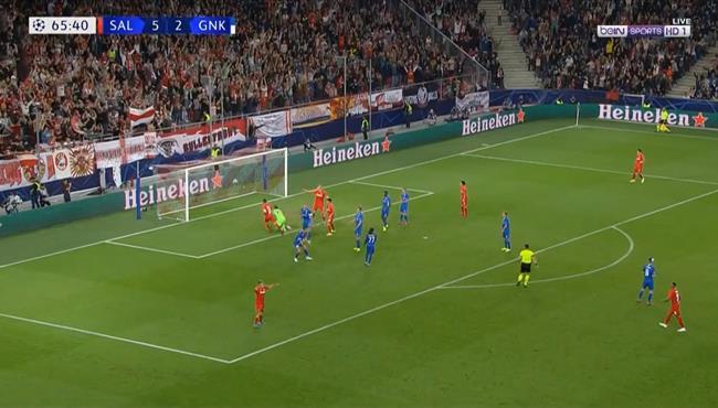 اهداف مباراة سالزبورج وجينك (6-2) دوري ابطال اوروبا