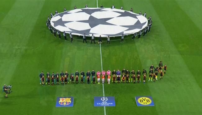 ملخص مباراة برشلونة وبوروسيا دورتموند في دوري ابطال اوروبا