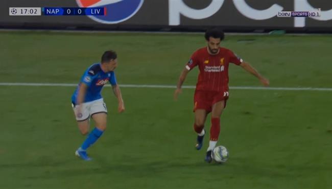 ملخص لمسات محمد صلاح في مباراة ليفربول ونابولي تعليق عصام الشوالي
