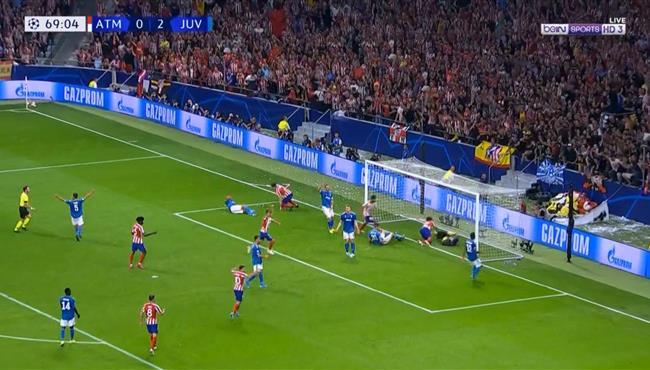 هدف اتلتيكو مدريد الاول في مرمي يوفنتوس بدوري ابطال اوروبا