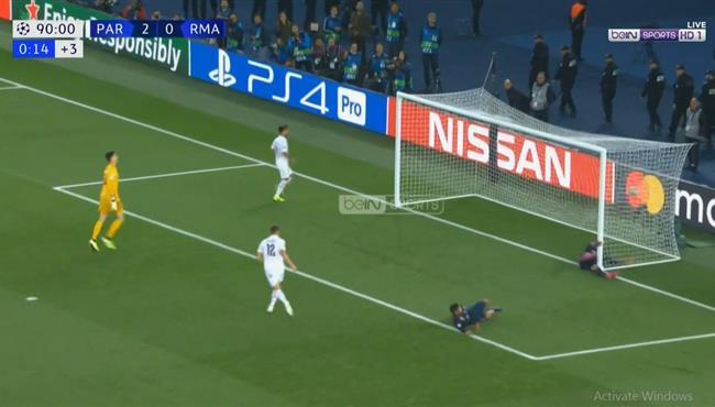 هدف باريس سان جيرمان الثالث في مرمي ريال مدريد بدوري ابطال اوروبا
