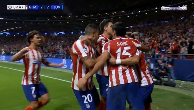 هدف تعادل اتلتيكو مدريد القاتل مع يوفنتوس (2-2) دوري ابطال اوروبا