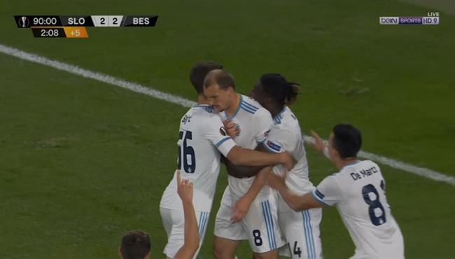 هدف رائع في مباراة بشكتاش وسلوفان براتيسلافا بالدوري الاوروبي
