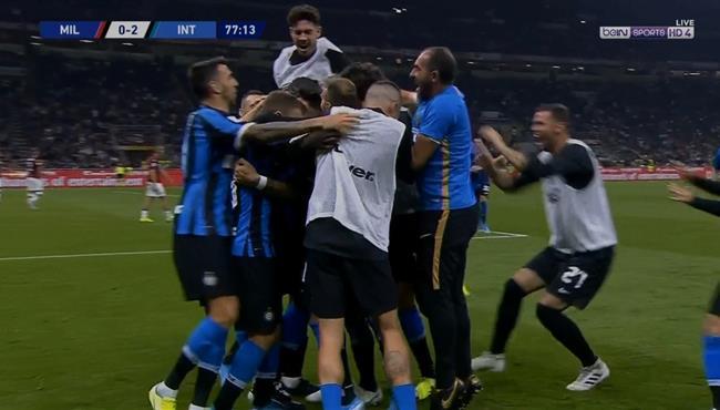 اهداف مباراة انتر ميلان وميلان (2-0) الدوري الايطالي