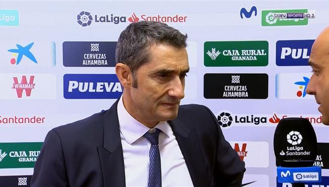 تصريحات فالفيردي بعد خسارة برشلونة من غرناطة بالدوري الاسباني