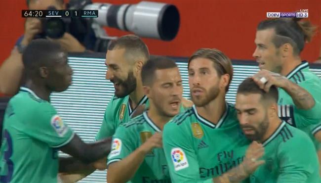 هدف فوز ريال مدريد علي اشبيلية (1-0) الدوري الاسباني