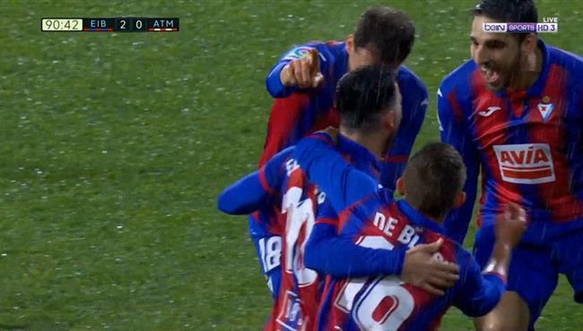 اهداف مباراة اتلتيكو مدريد وايبار (0-2) الدوري الاسباني