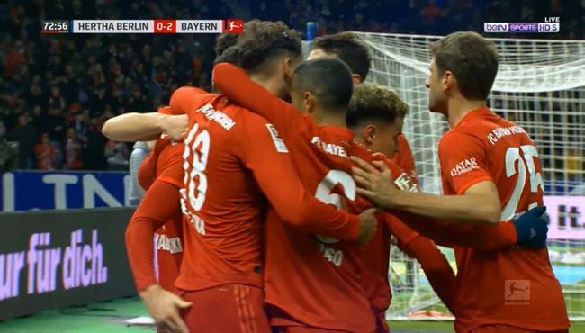 اهداف مباراة بايرن ميونخ وهرتا برلين (4-0) الدوري الالماني