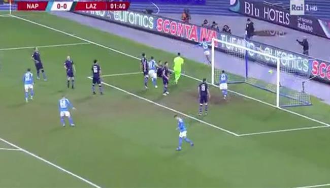 هدف فوز نابولي على لاتسيو (1-0) كاس ايطاليا